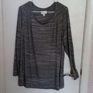 Ava & Viv Gray Tunic Plus Size 1X